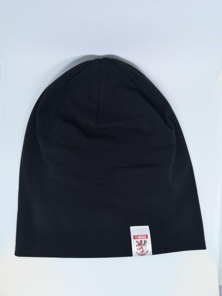 moderne Jersey Beanie schwarz