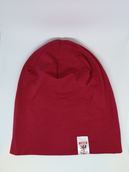 moderne Jersey Beanie rot